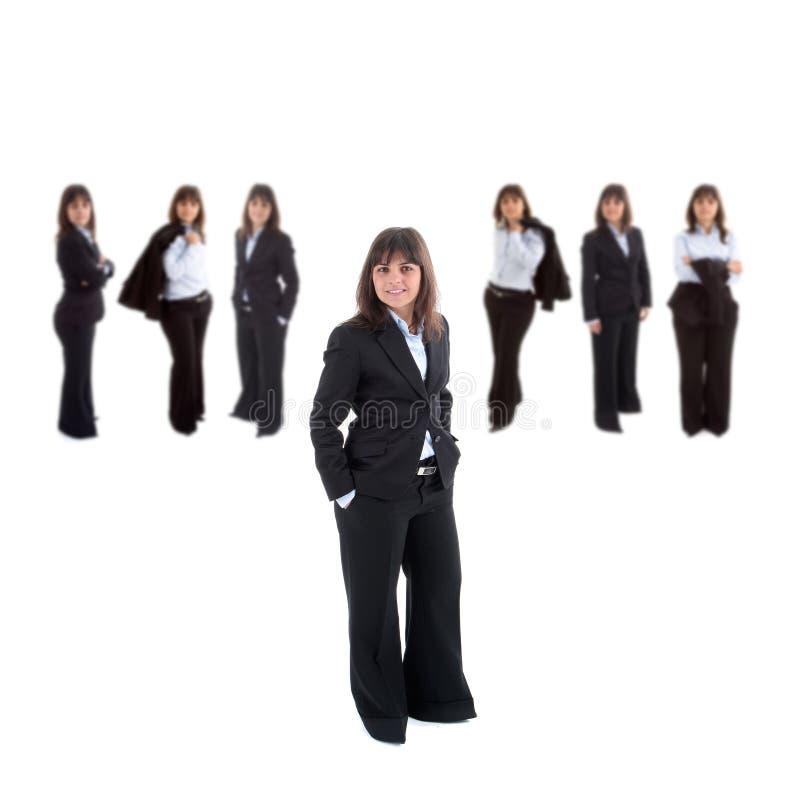 Führendes Team der Geschäftsfrau stockbilder