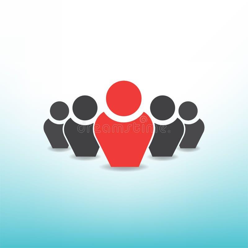 Führer der Gruppe vektor abbildung
