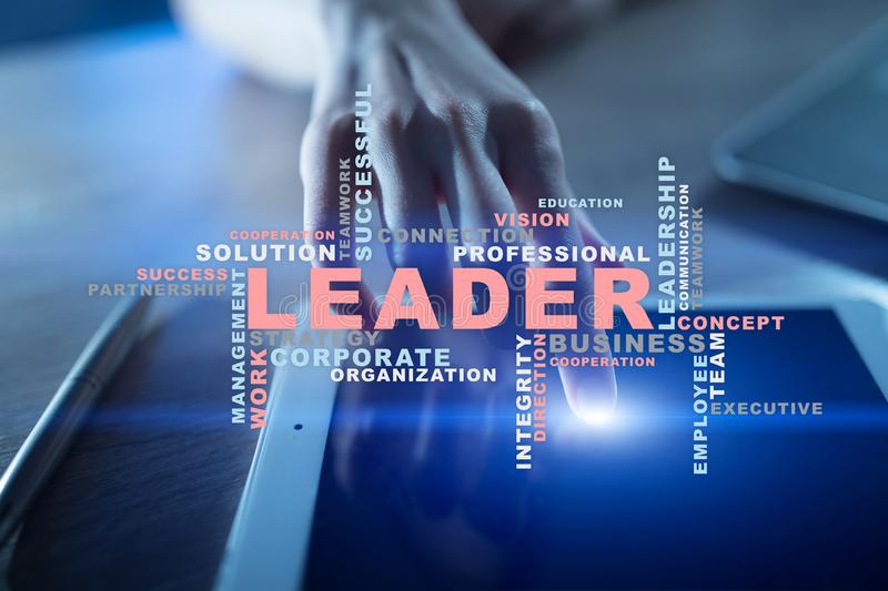 führer Führung Teambuilding Die goldene Taste oder Erreichen für den Himmel zum Eigenheimbesitze Wortwolke lizenzfreie stockfotos