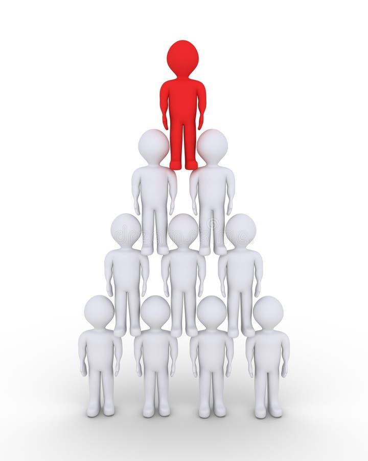 Führer- und Leutehierarchiekonzept lizenzfreie abbildung