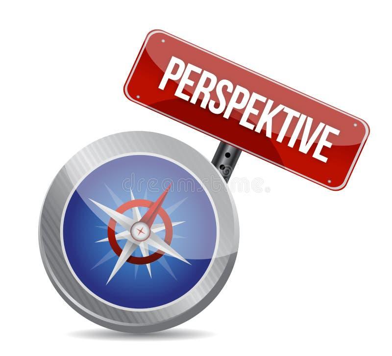 Führer zur großen Perspektive auf Deutsch. Kompass lizenzfreie abbildung