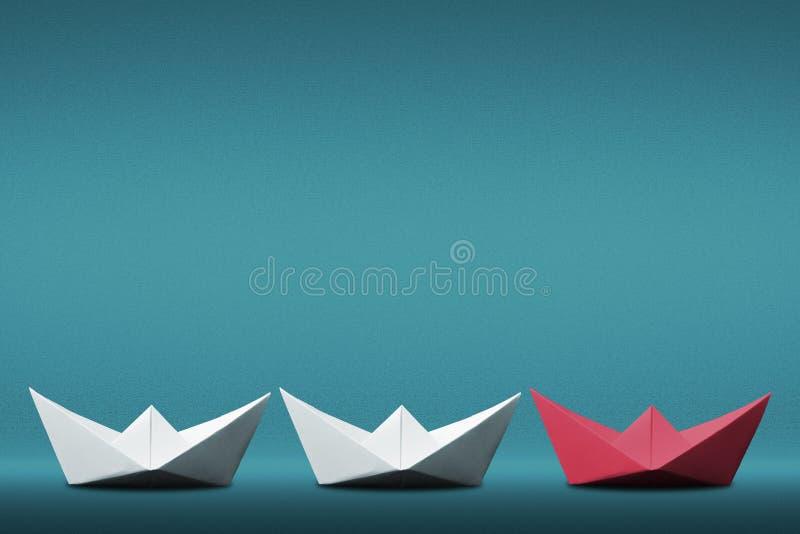 Führerpapierbootskonzept stockbild