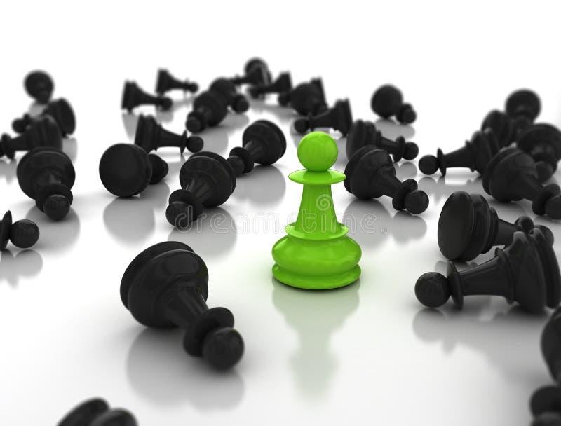 Führung cusiness Konzept stock abbildung