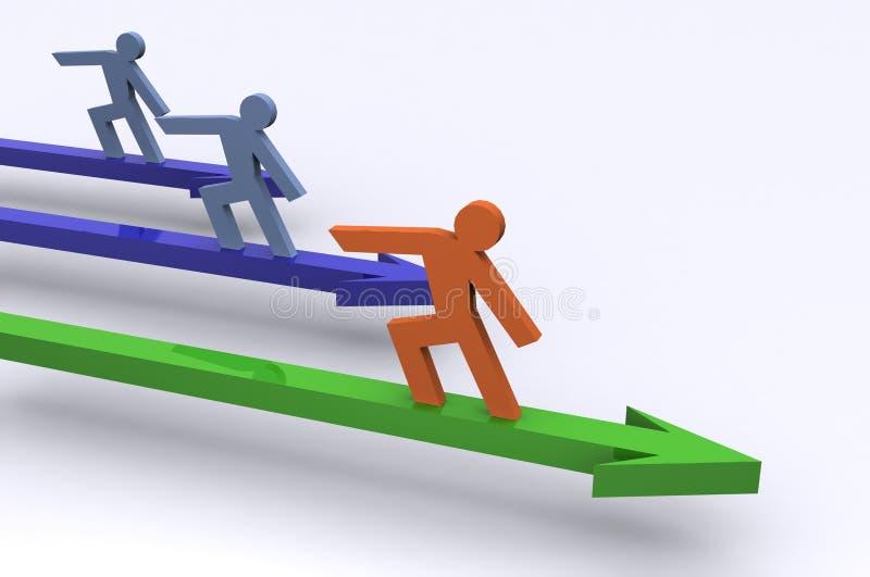 Führung im Geschäft lizenzfreie abbildung