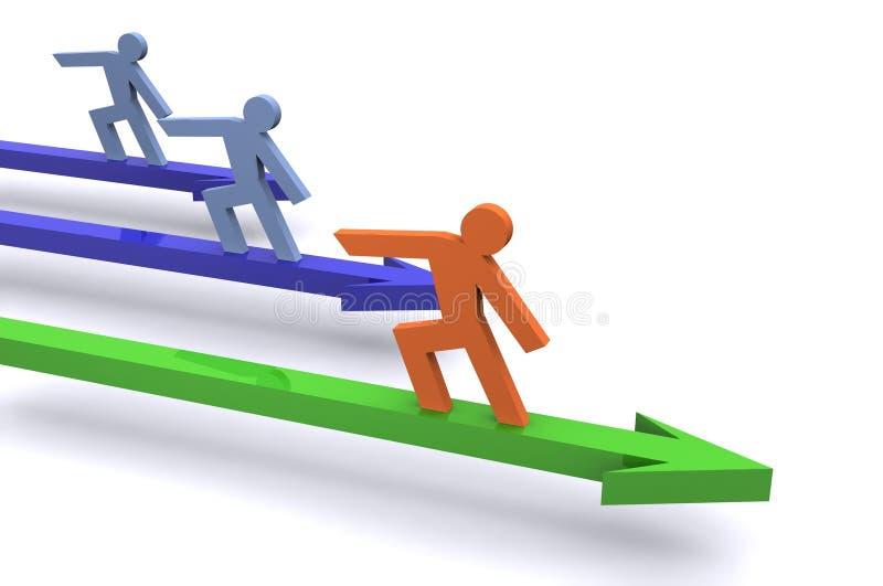 Führung im Geschäft stock abbildung