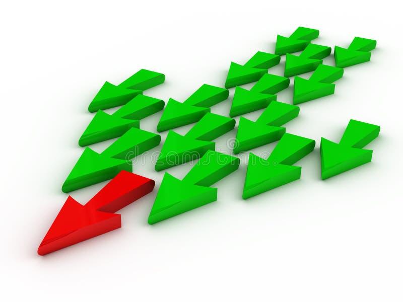 Führung (Pfeile) stock abbildung