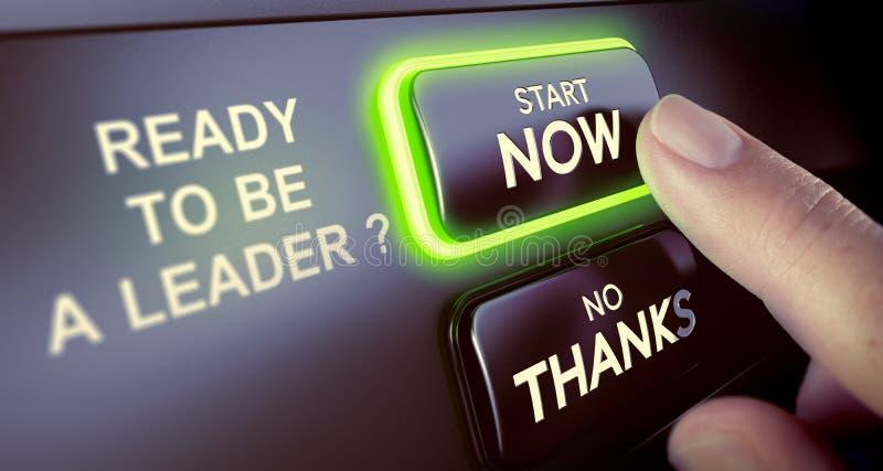 Führung Team Development Seien Sie ein Führer Now vektor abbildung
