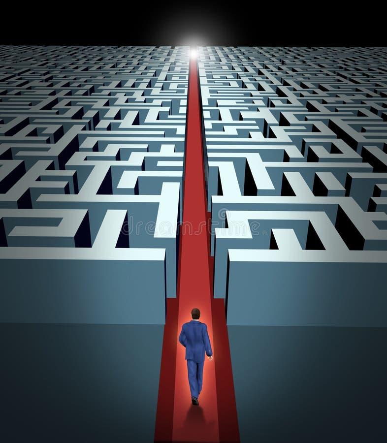 Führung- und Geschäftsanblick vektor abbildung