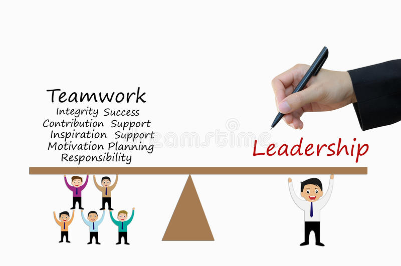 Führung und Teamwork des Geschäftskonzeptes vektor abbildung