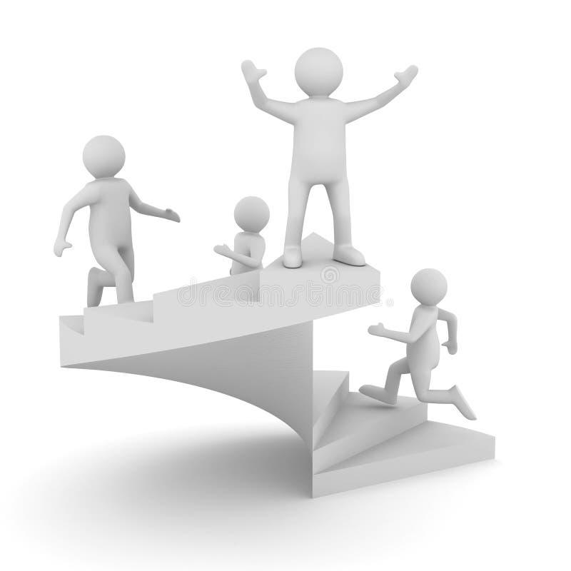 Führungkonzept auf weißem Hintergrund lizenzfreie abbildung