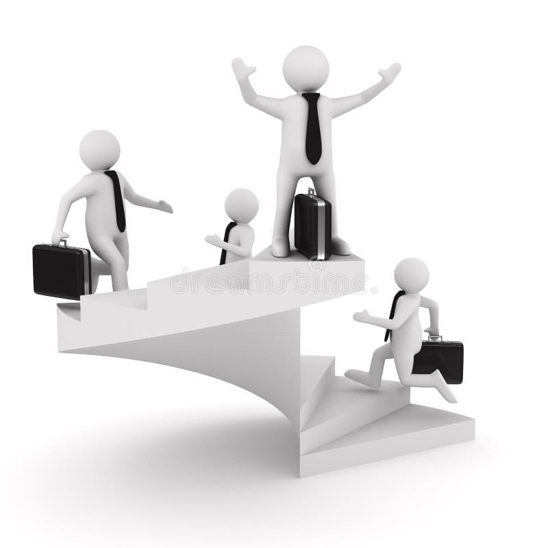 Führungkonzept auf weißem Hintergrund vektor abbildung