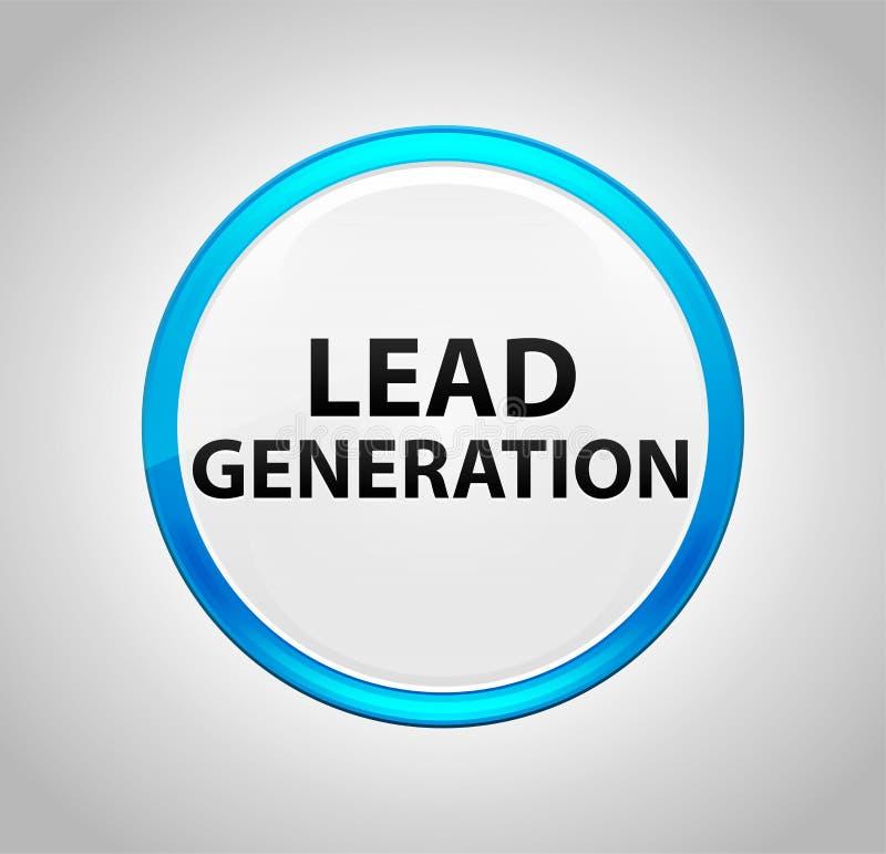 Führungs-Generation ringsum blauen Druckknopf lizenzfreie abbildung
