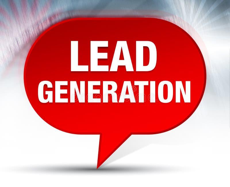 Führungs-Generations-roter Blasen-Hintergrund stock abbildung