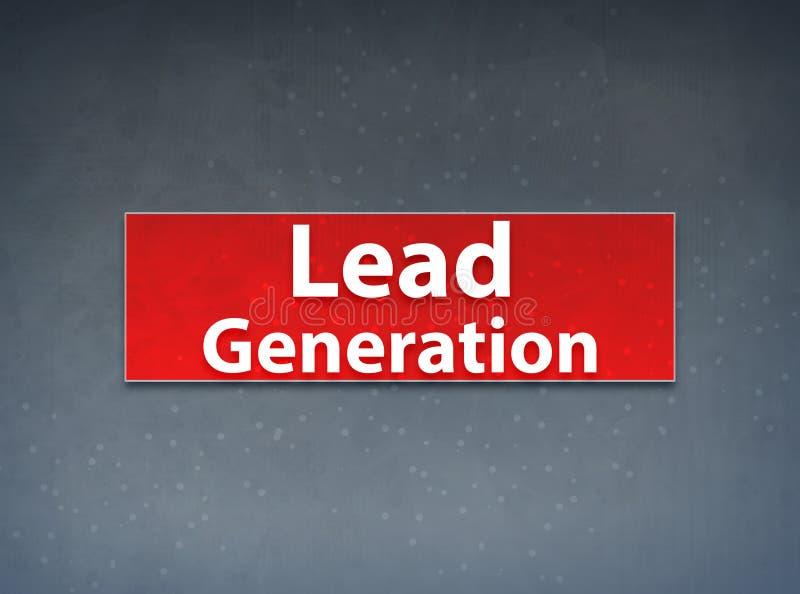Führungs-Generations-roter Fahnen-Zusammenfassungs-Hintergrund stock abbildung