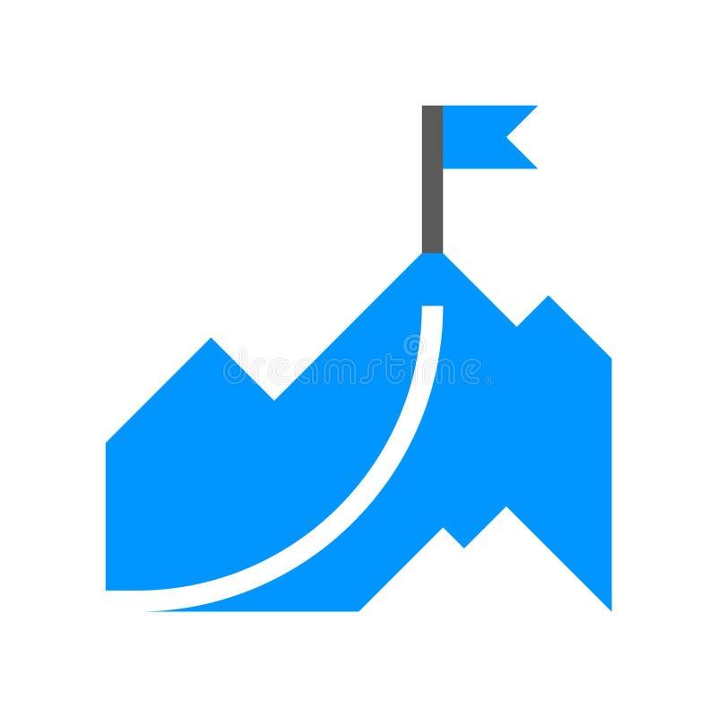 Führungs-und Unternehmensleitungs-Vektor-flache Linie Ikone Erreichen von Unternehmenszielen Editable Anschlag Pixel 48x48 perfek stock abbildung