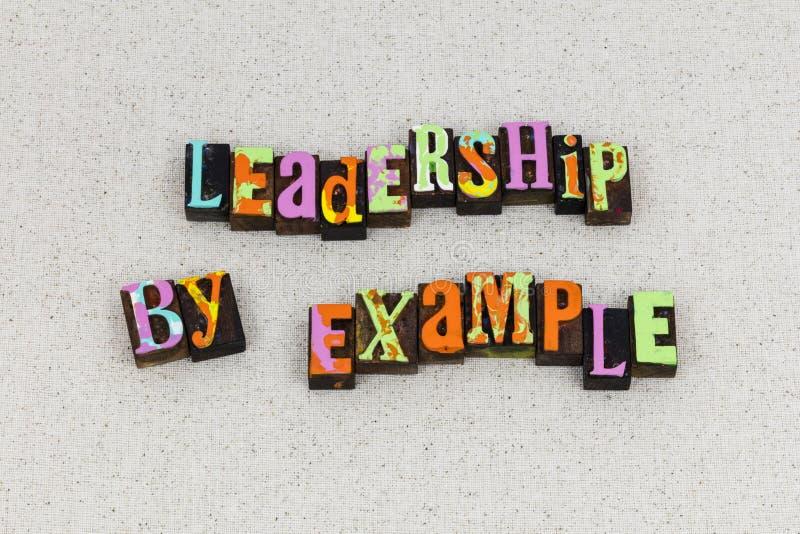 Führungsbeispielmanagement-Führerlehrer lizenzfreies stockfoto