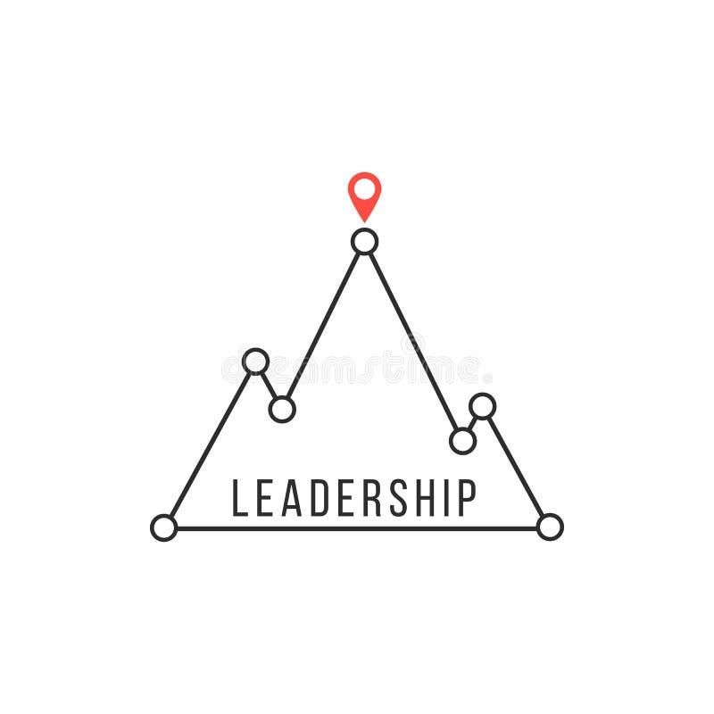 Führungsikone mögen Bergspitze lizenzfreie abbildung
