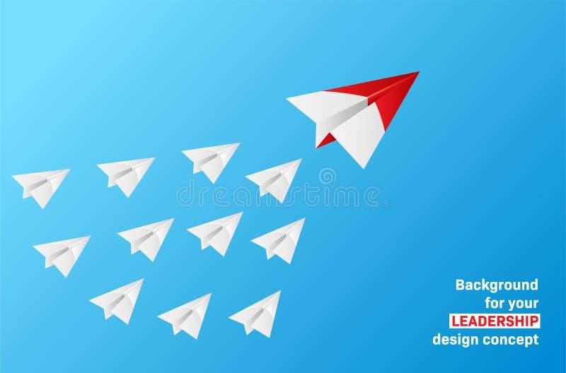 Führungskonzept - Gruppe Papierflächen mit Führer vektor abbildung