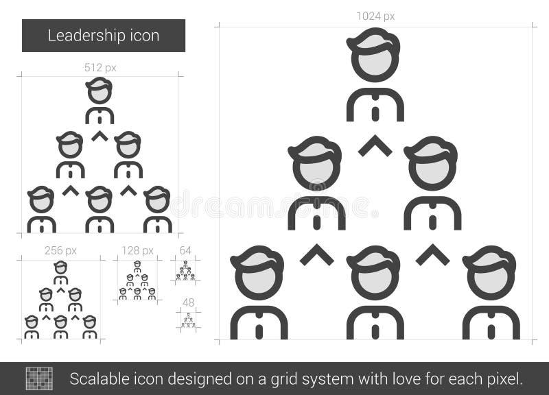 Führungslinie Ikone vektor abbildung
