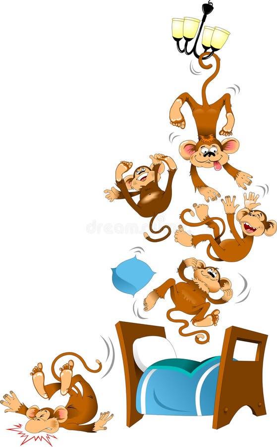 Fünf Affen vektor abbildung