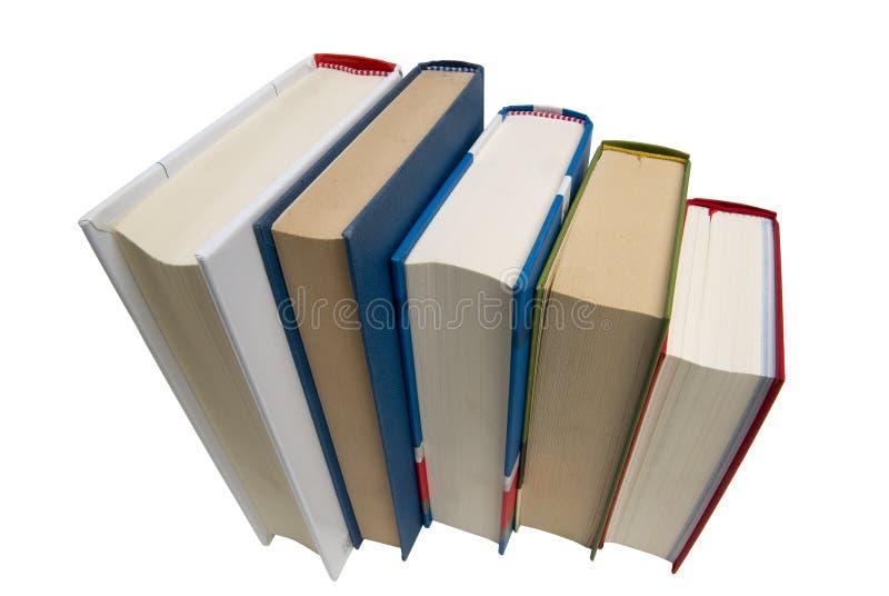 Fünf Bücher lizenzfreies stockbild