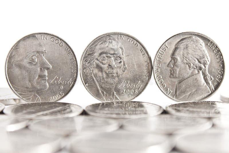 Fünf Cents stockbild