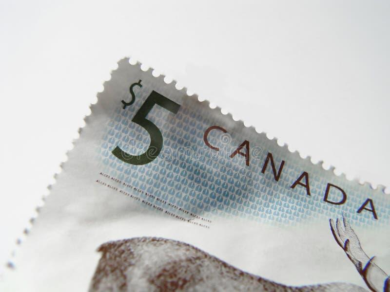 Fünf Dollar-Stempel Lizenzfreies Stockbild