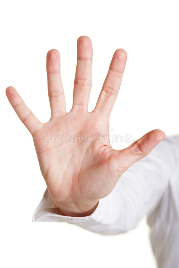 Fünf Finger einer Hand stockfotos