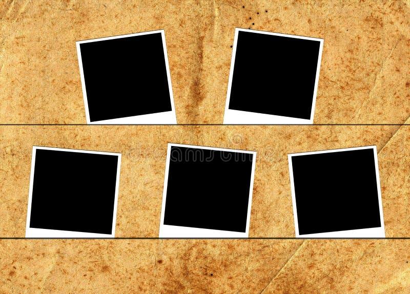 Fünf Fotorahmen stockbilder
