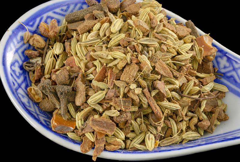 Chinese five spice mix stock images