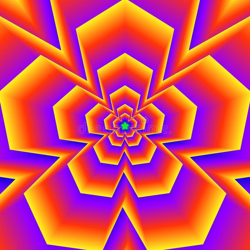 Fünf gezeigte glühende Formen vektor abbildung