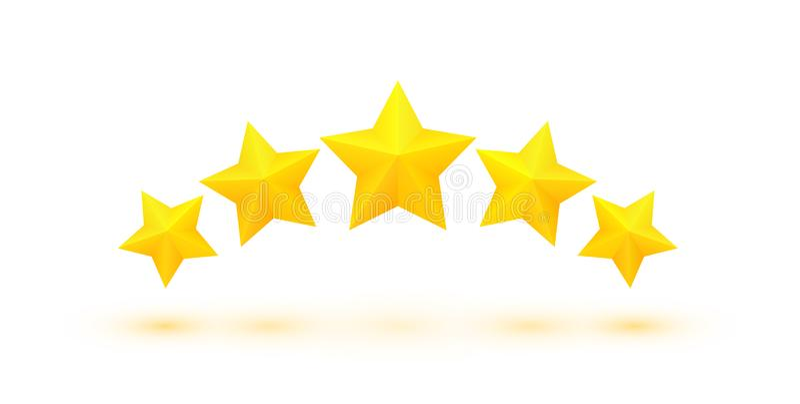 Fünf goldene Sterne vektor abbildung