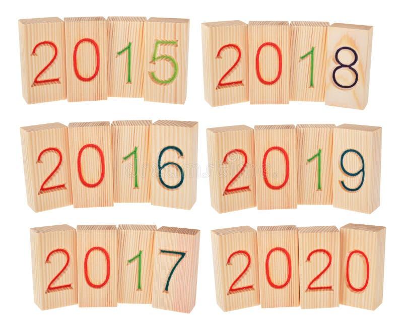 Fünf Jahre in der Zukunft von 2015 bis 2020 stockfotos