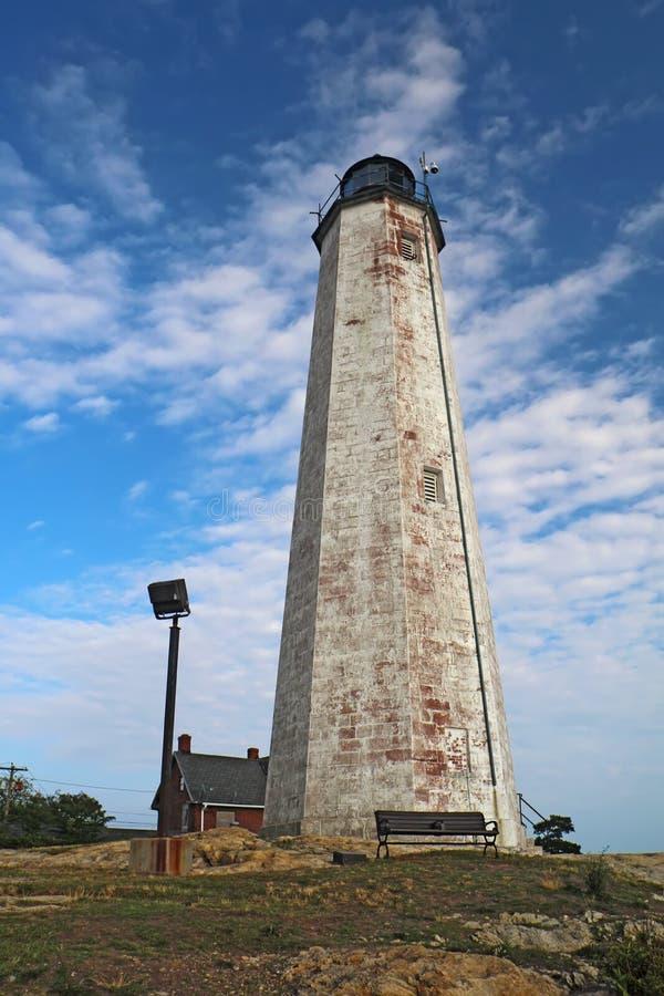 Fünf Meilen-Punkt-Leuchte in New-Haven, Connecticut lizenzfreie stockfotografie