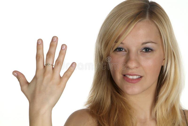 Fünf mit dem Finger lizenzfreie stockfotos