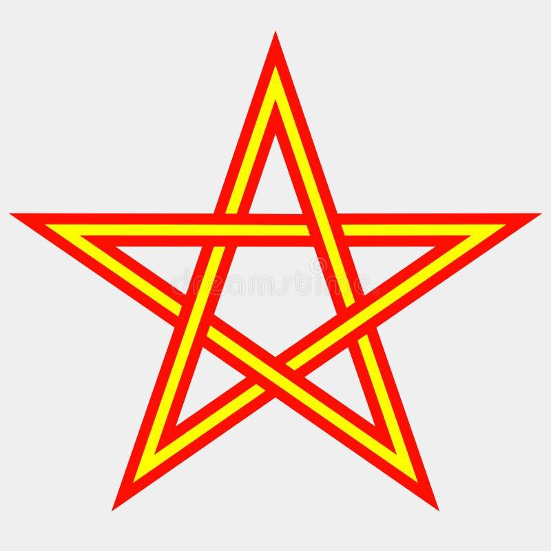 Fünf-spitzer Stern lizenzfreie abbildung