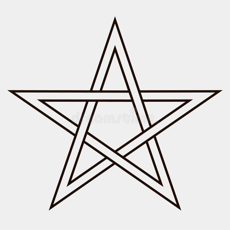 Fünf-spitzer Stern vektor abbildung