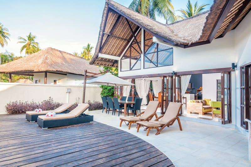 Fünf Stern-Landhaus Bali stockfoto