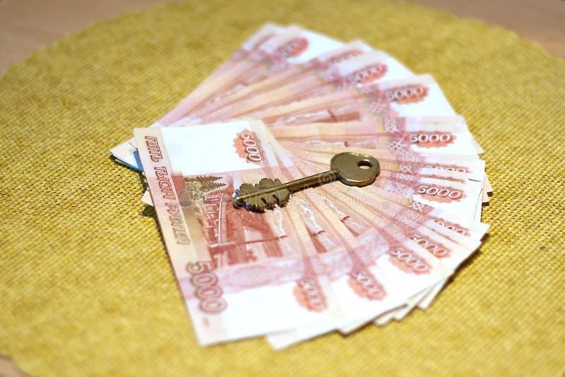 Fünf tausend russische Rubel stockfoto