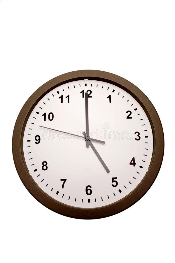 Fünf Uhr stockbilder