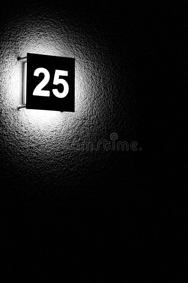 Fünfundzwanzig stockbild