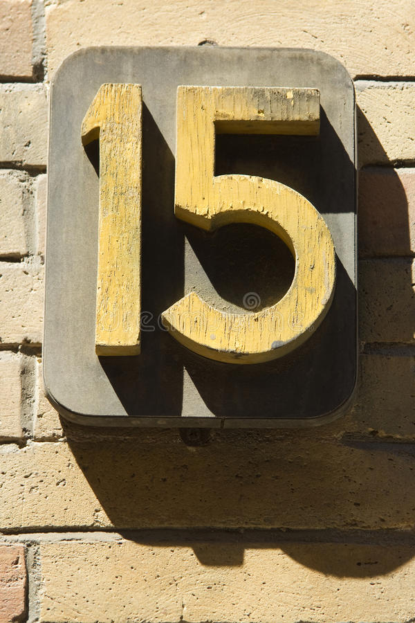 Fünfzehn lizenzfreies stockbild