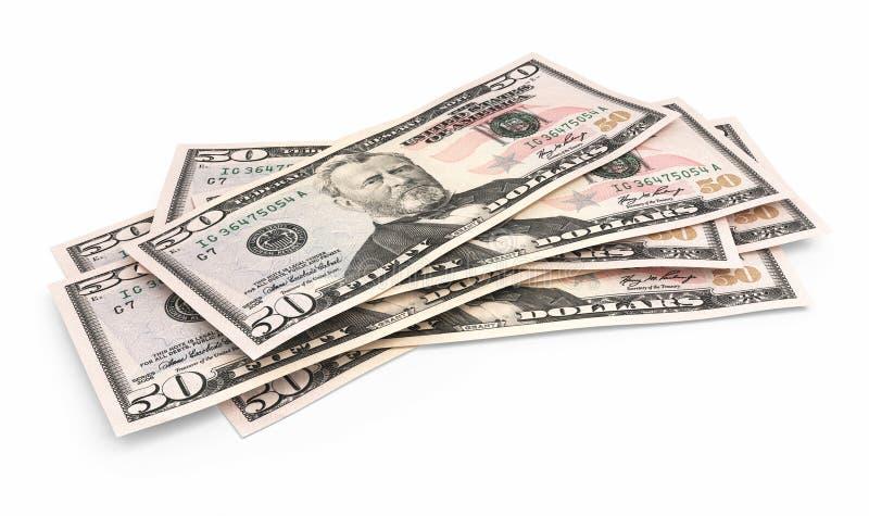 Fünfzig Dollarbanknoten stock abbildung