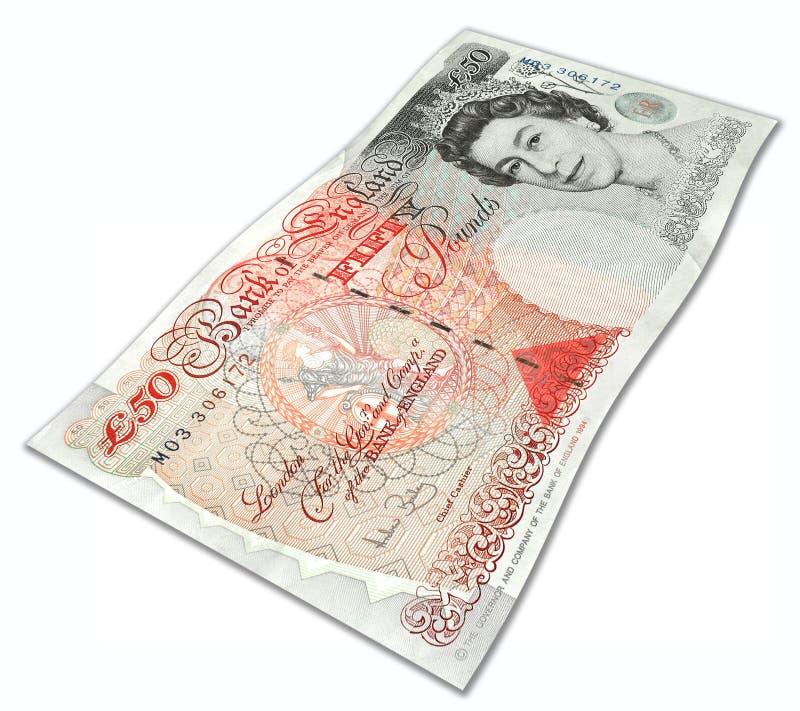 Fünfzig englische Pounds stockfotos