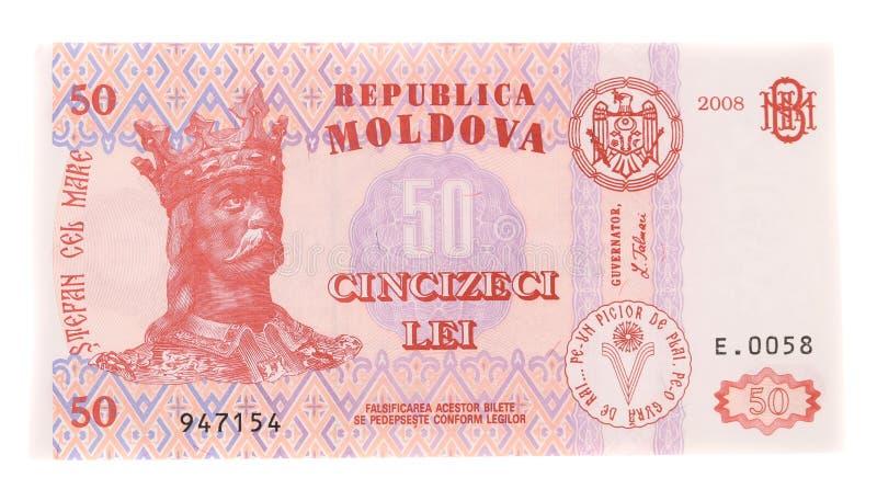 Fünfzig Moldovan-Banknote lizenzfreie stockbilder