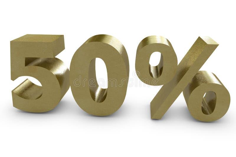 Fünfzig Prozent in 3d vektor abbildung