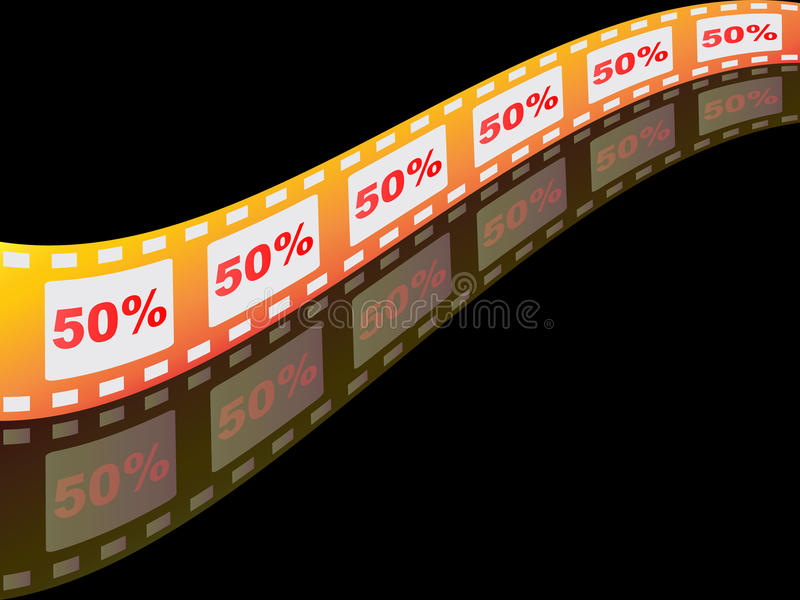 Fünfzig-Prozent-Rabatt lizenzfreie abbildung