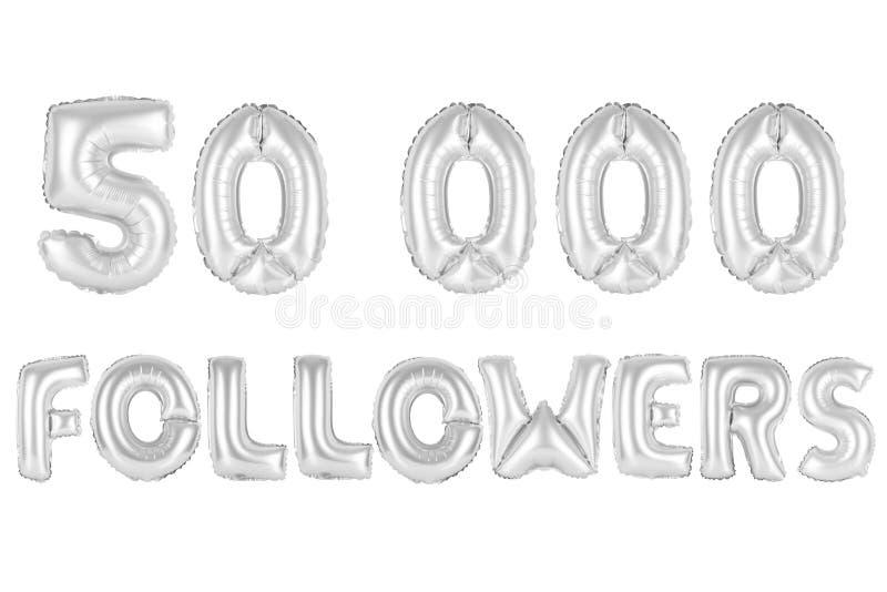 Fünfzig tausend Nachfolger, chromieren graue Farbe vektor abbildung