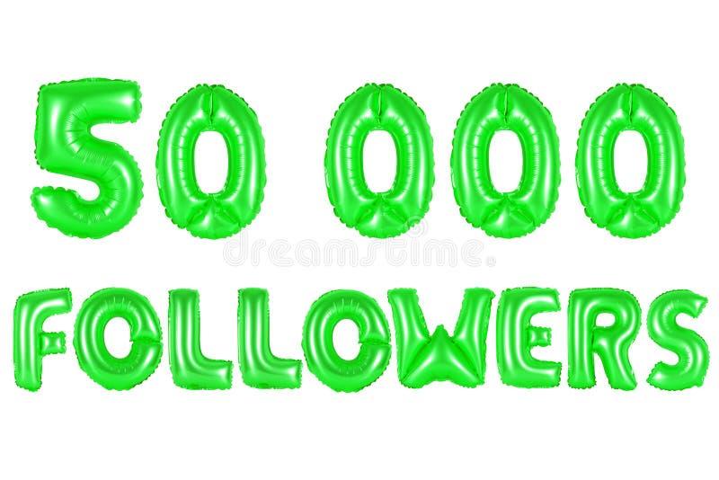 Fünfzig tausend Nachfolger, grüne Farbe stock abbildung