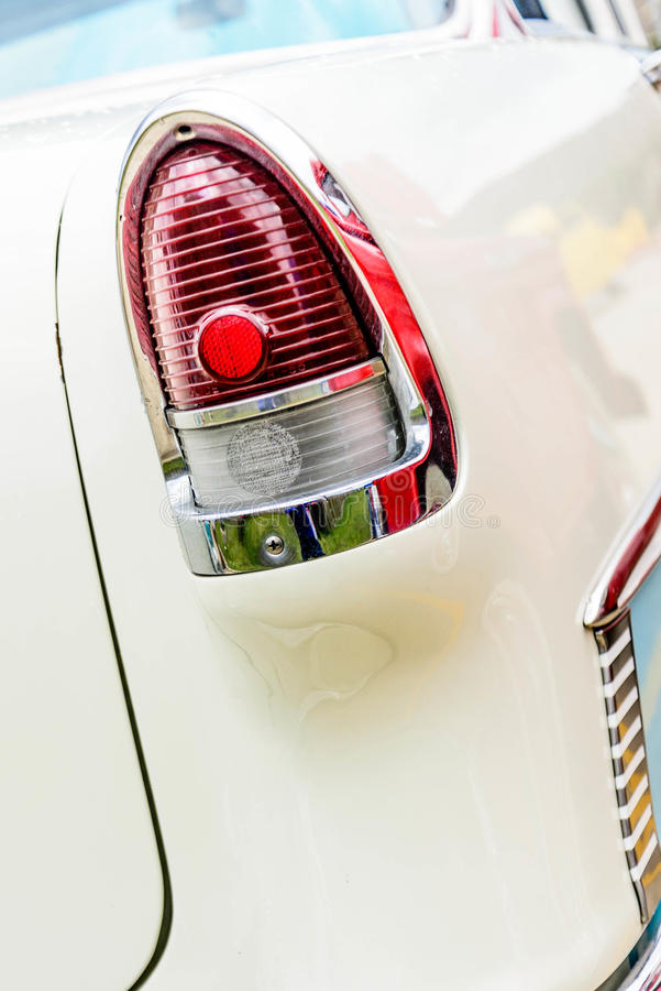 fünfziger Jahre Chevy BelAir-Rücklicht stockfotos
